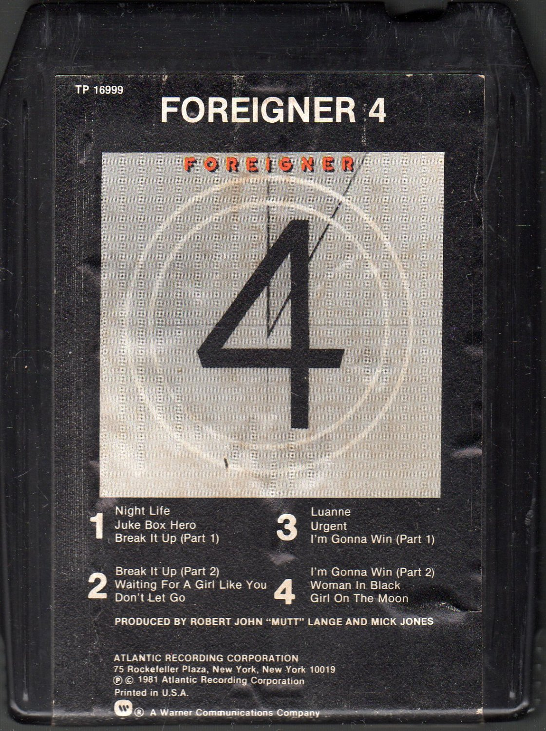 Foreigner - Foreigner 4 1981 WB SOLD 8-track tape
