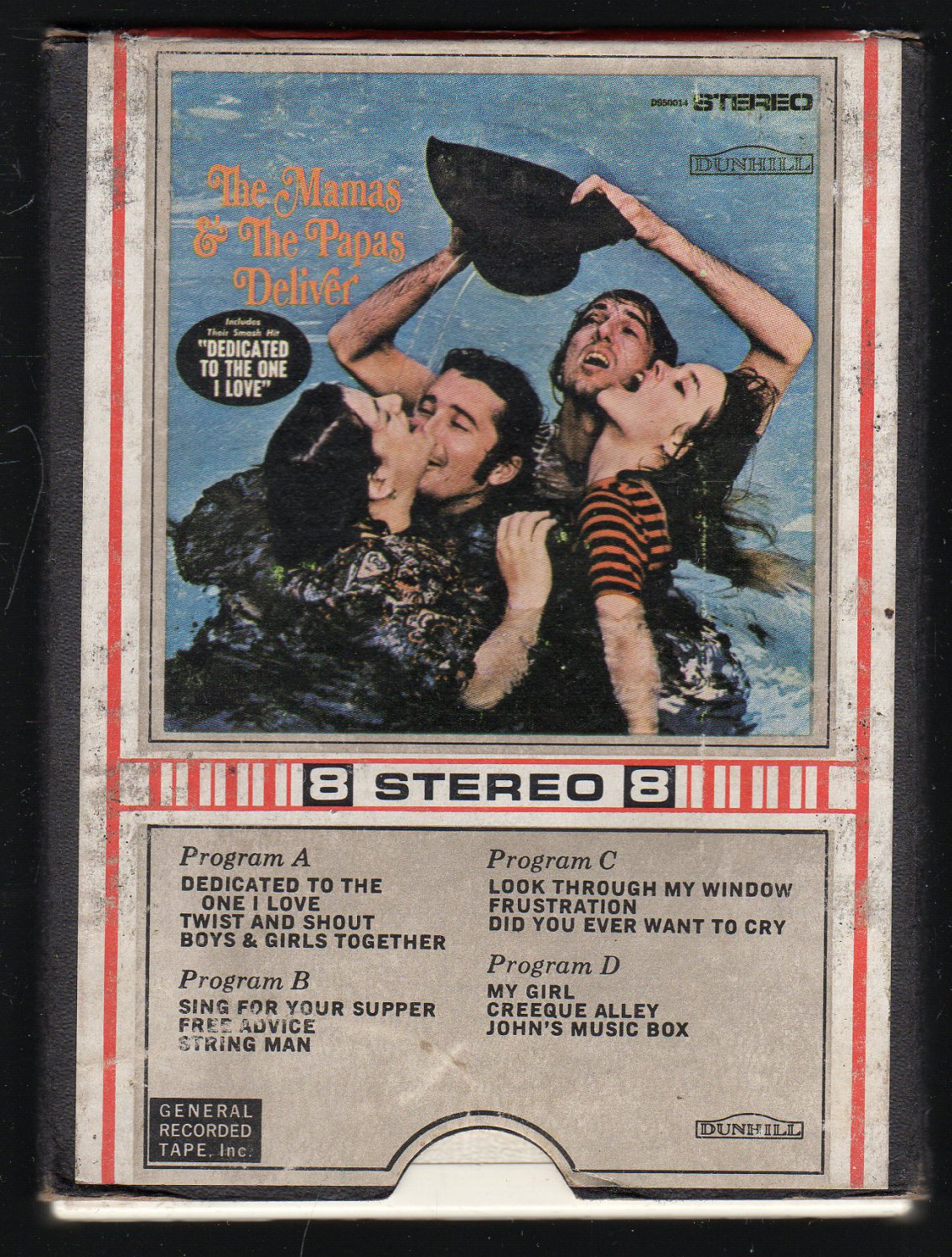 The Mamas & The Papas - Deliver 1967 GRT DUNHILL AC4 8-track tape