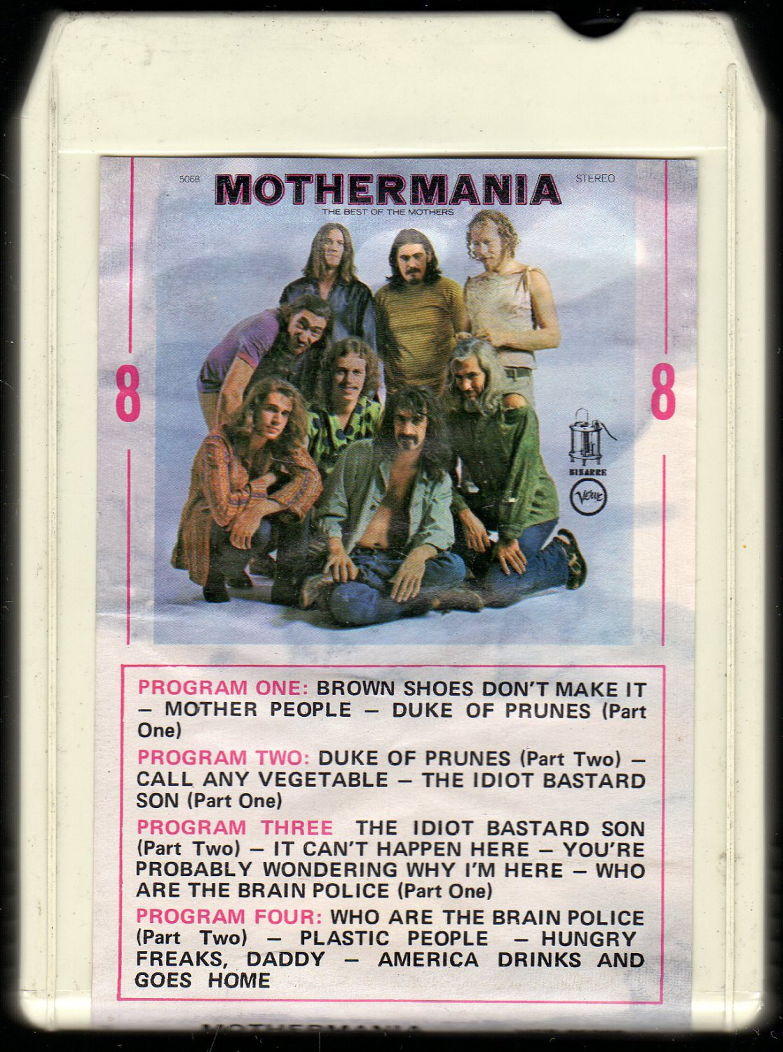 The Mothers Of Invention - Mothermania 1969 VERVE AMPEX AC4 8-track tape
