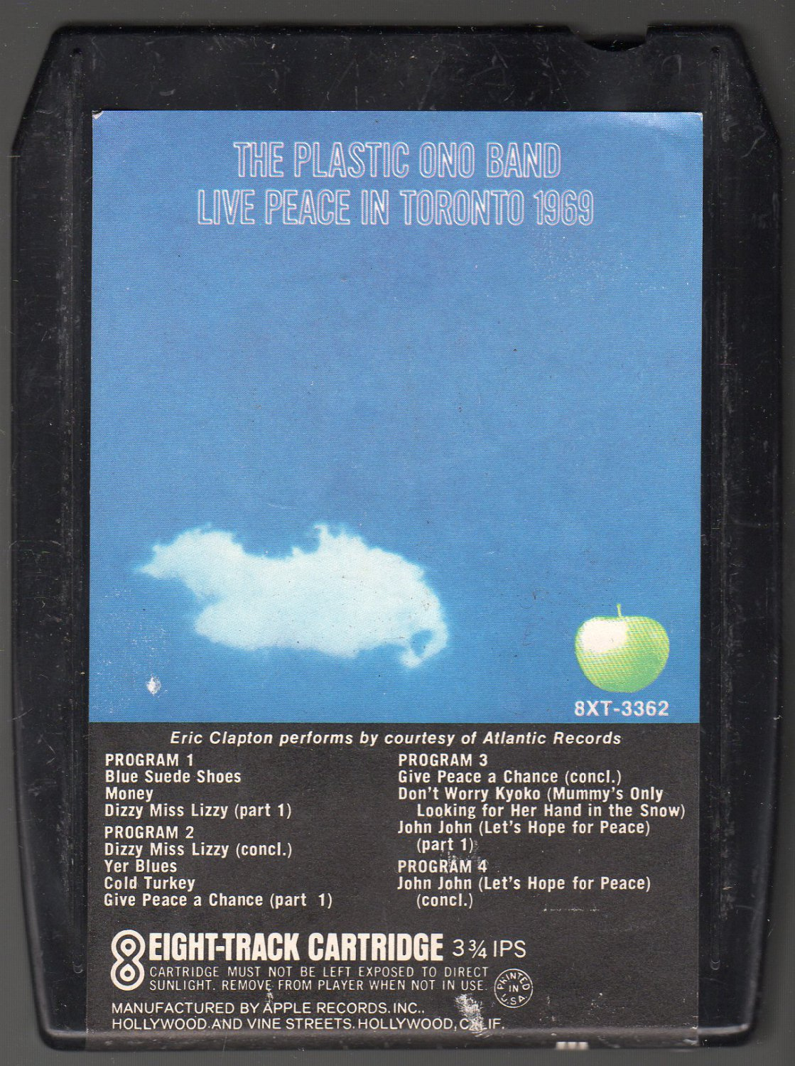 The Plastic Ono Band - Live Peace In Toronto 1969 A51 APPLE 8-track tape