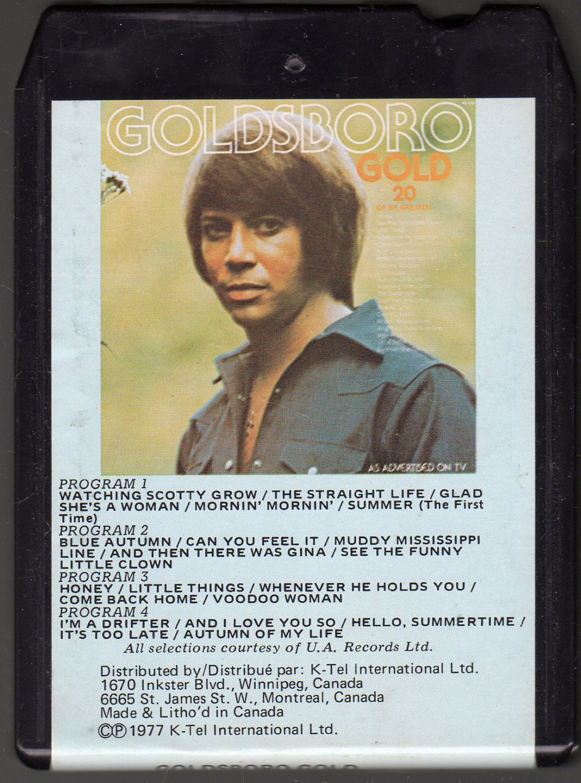 Bobby Goldsboro - Goldsboro Gold 20 Of His Greatest Hits 1977 KTEL A50M 8-track tape