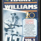 Hank Williams Sr - 20 Greatest Hits Vol 2 C9 Cassette Tape