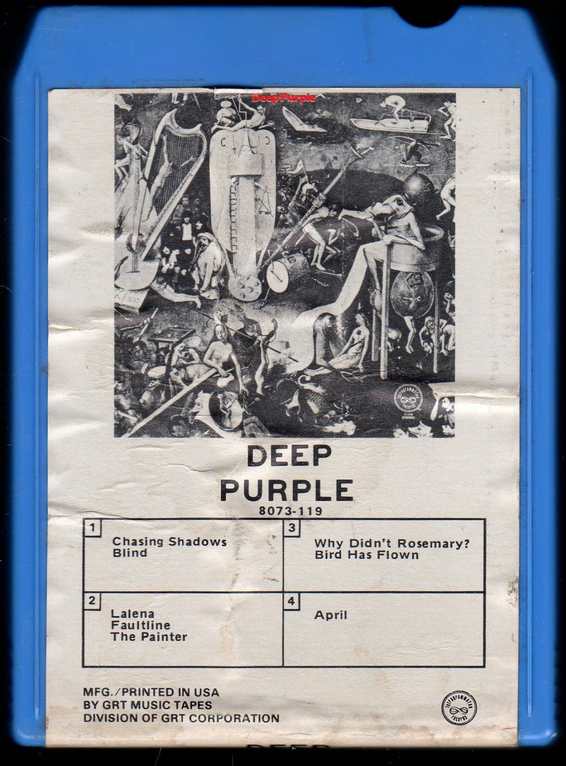 Deep Purple - Deep Purple III 1969 GRT TETRAGRAM AC1 8-track tape