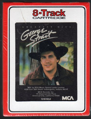 George Strait - Greatest Hits 1985 RCA Sealed A7 8-track tapeGeorge Strait Truck