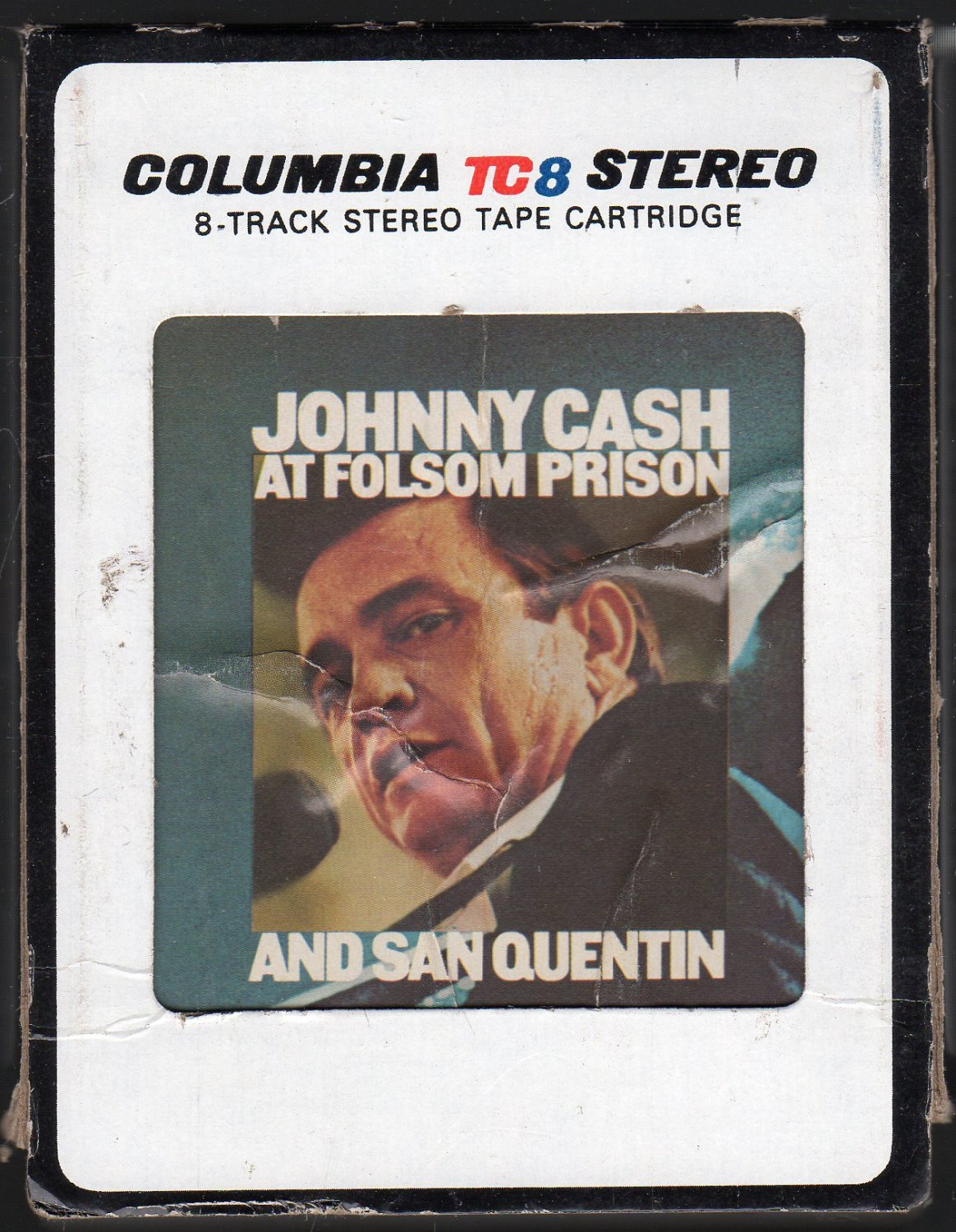 Johnny Cash - At Folsom And San Quentin 1976 CBS A26 8-TRACK TAPE