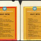 Heavy Metal - Various Rock Artists Vol 1 & 2 1974 WB A26 8-TRACK TAPE