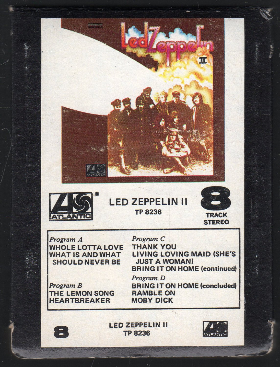 Led Zeppelin - Led Zeppelin II 1969 ATLANTIC BOX SLEEVE A18E SOLD 8-TRACK TAPE
