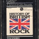 History Of British Rock - Various Artists 1976 CBS SIRE Double Play A18F 8-TRACK TAPE