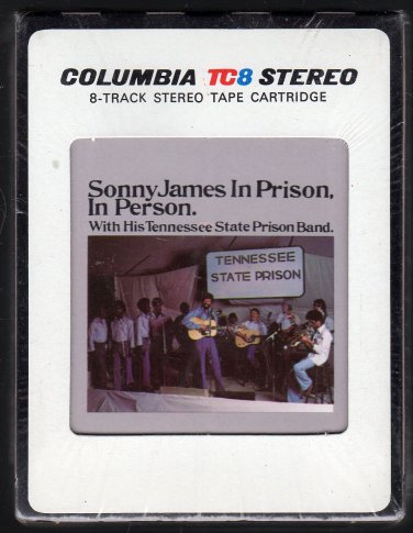 Sonny James - In Prison, In Person 1977 CBS Sealed A17C 8-TRACK TAPE
