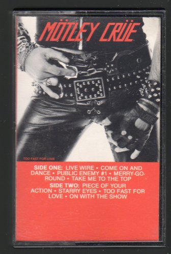 Motley Crue - Too Fast For Love 1982 Debut ELEKTRA C17 CASSETTE TAPE