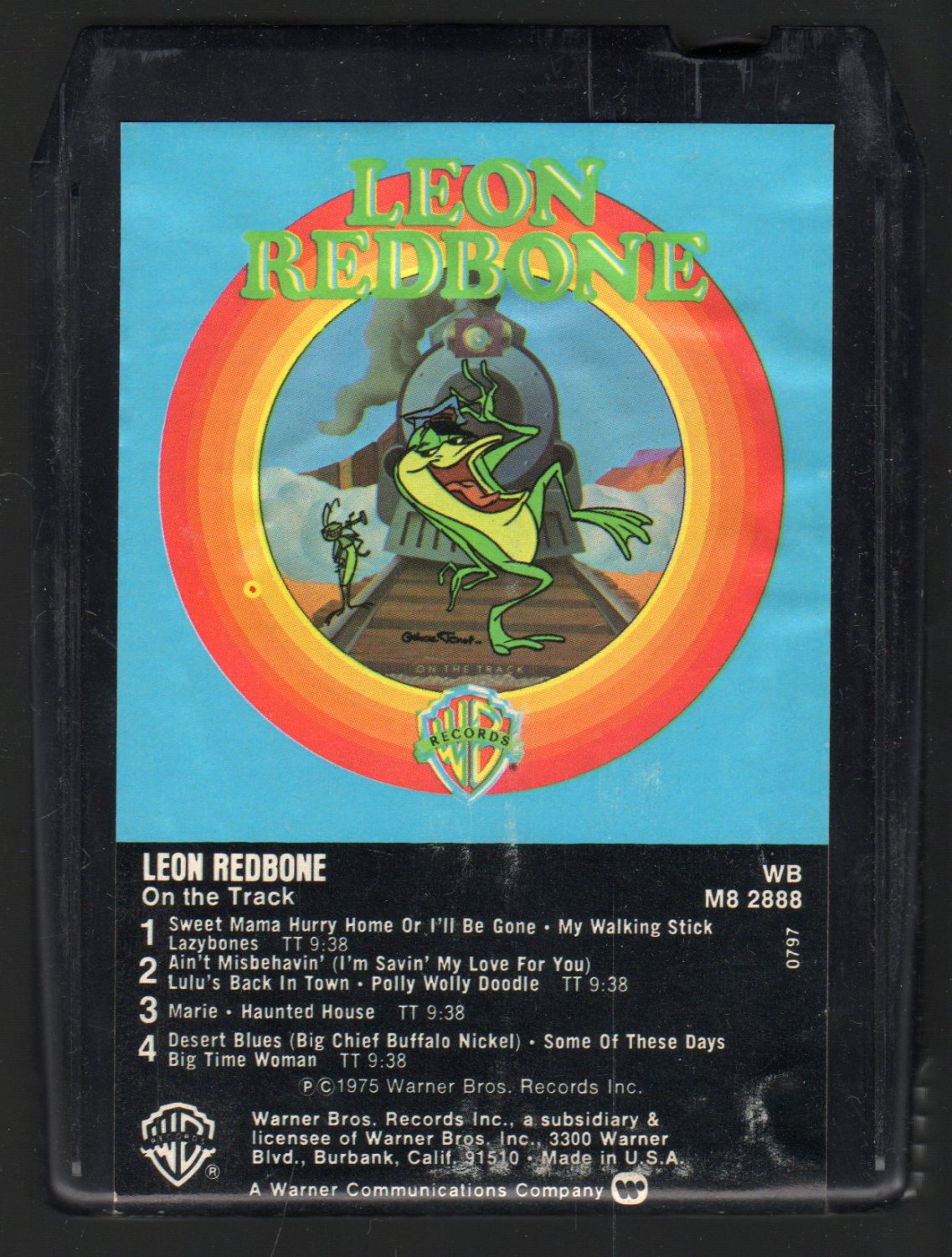 leon redbone on the track 1975 debut wb t2 8 track tape. Black Bedroom Furniture Sets. Home Design Ideas