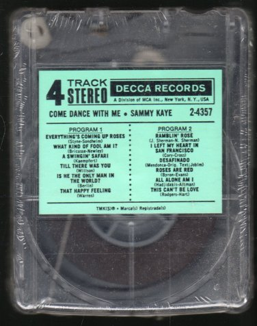 Sammy Kaye - Come Dance With Me 1962 DECCA Sealed A18B 4-TRACK TAPE