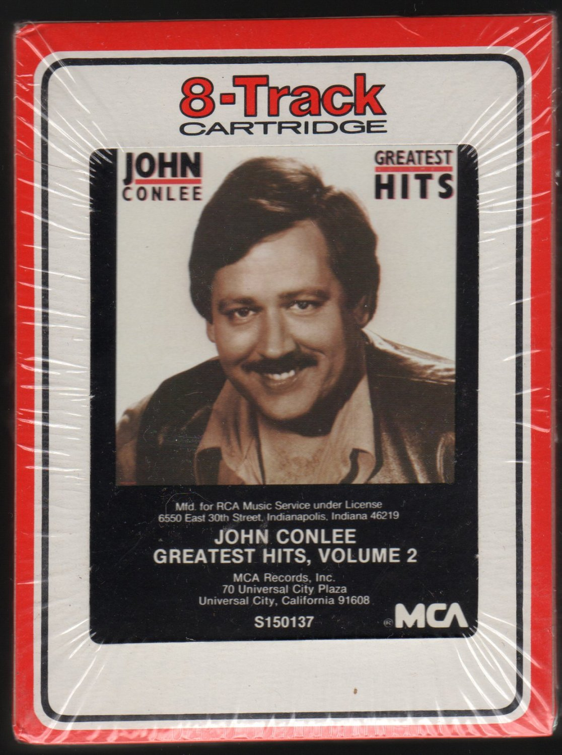 John Conlee - John Conlee's Greatest Hits Vol 2 1985 RCA Sealed A18F 8-TRACK TAPE