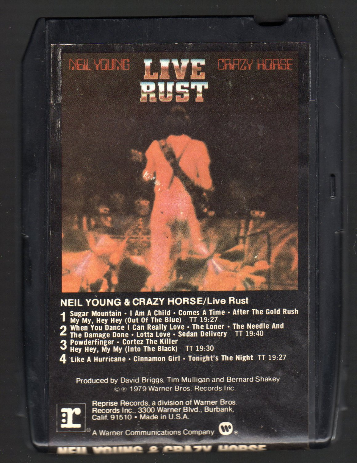 Neil Young - Live Rust 1979 WB A43 8-TRACK TAPE