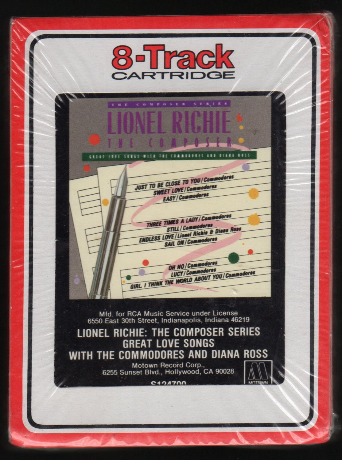 Lionel Richie - The Composers Series 1986 RCA MOTOWN Sealed A4 8-TRACK TAPE