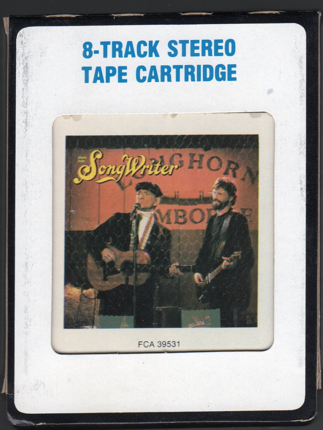 """Willie Nelson & Kris Kristofferson - Music From """"Songwriter"""" 1984 CRC A4 8-TRACK TAPE"""