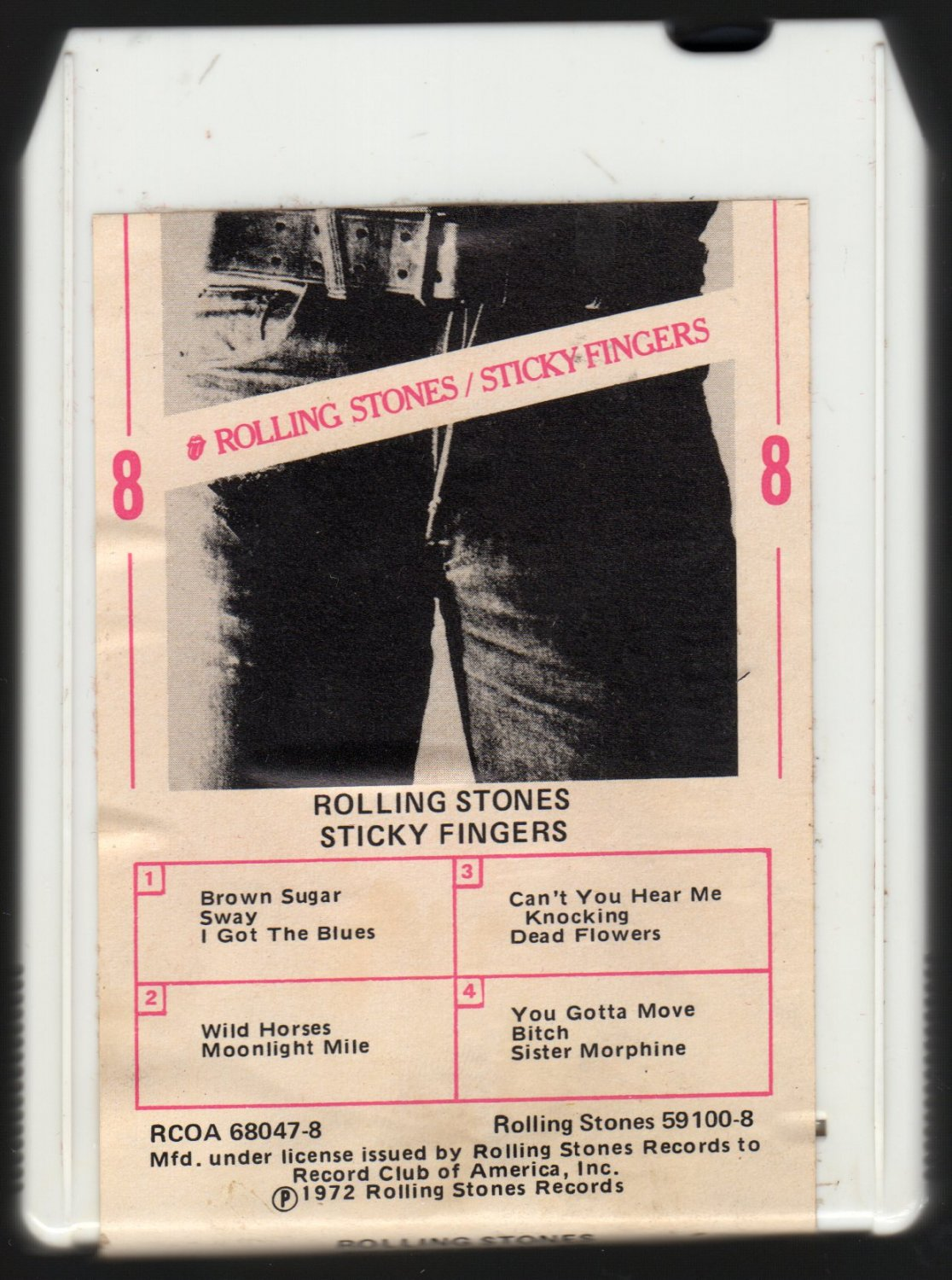 The Rolling Stones - Sticky Fingers 1971 RCA A4 8-TRACK TAPE