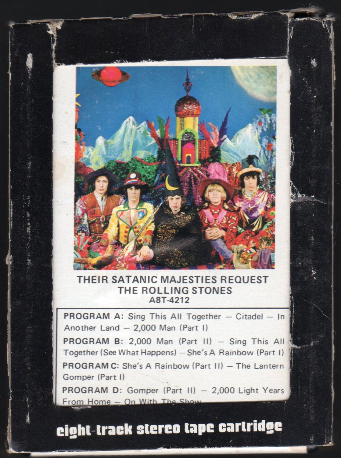 The Rolling Stones - Their Satanic Majesties Request 1967 ABKCO Re-issue A26 8-TRACK TAPE