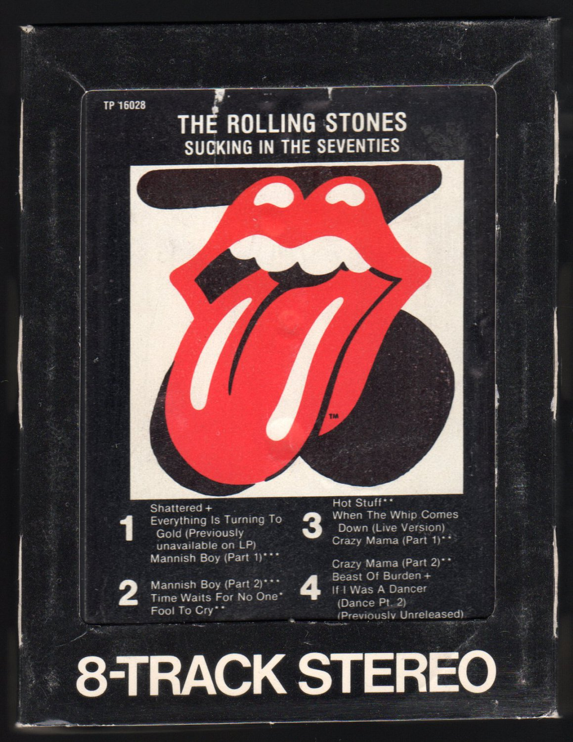 The Rolling Stones - Sucking In The Seventies 1981 WB A19A 8-TRACK TAPE