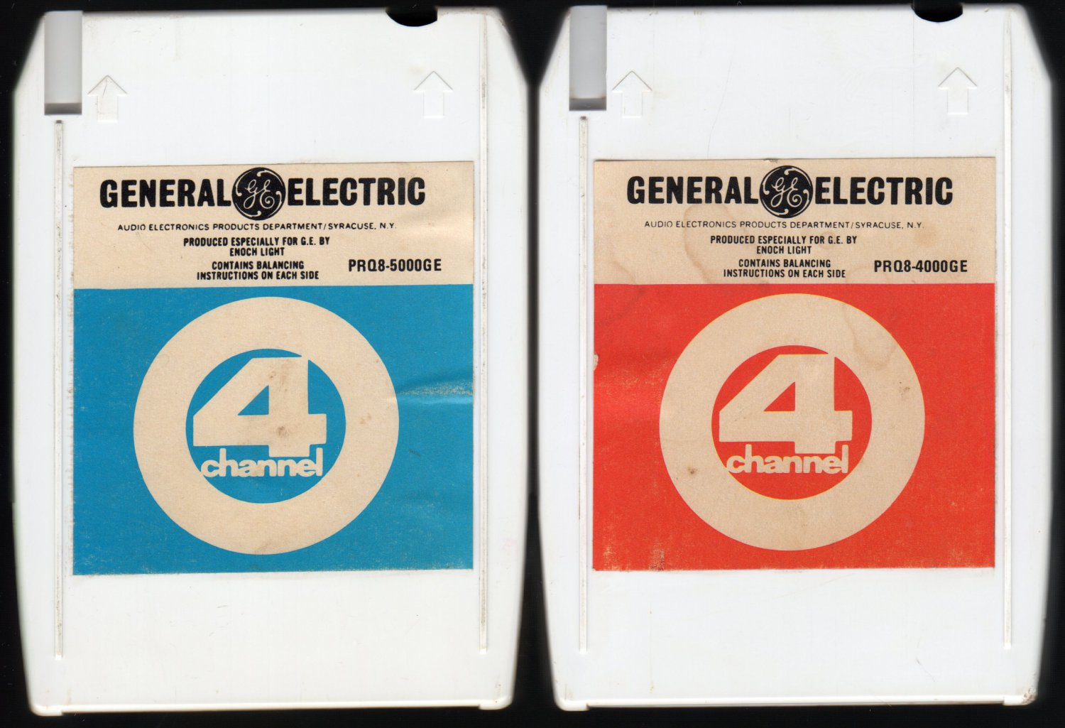Enoch Light - General Electric Demo PRQ8 4000GE + 5000GE Quadraphonic A45 8-TRACK TAPE