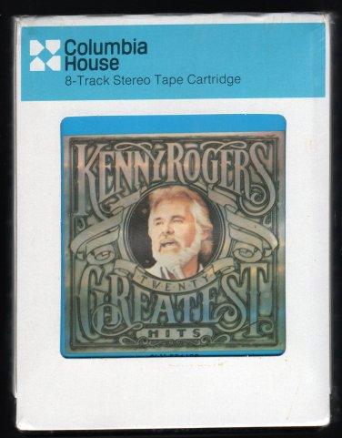 Kenny Rogers - Twenty Greatest Hits 1983 CRC Sealed A8 8-TRACK TAPE