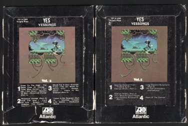 Yes - Yessongs Volumes 1 and 2 1973 ATLANTIC A18D 8-TRACK TAPE