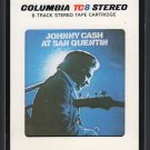 Johnny Cash - At San Quentin 1969 CBS A21C 8-TRACK TAPE