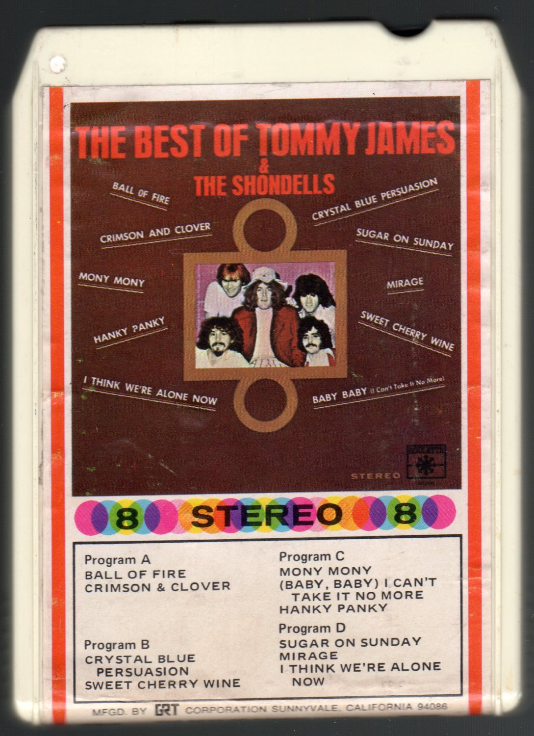Tommy James & The Shondells - The Best Of 1969 AMPEX ROULETTE A43 8-TRACK TAPE