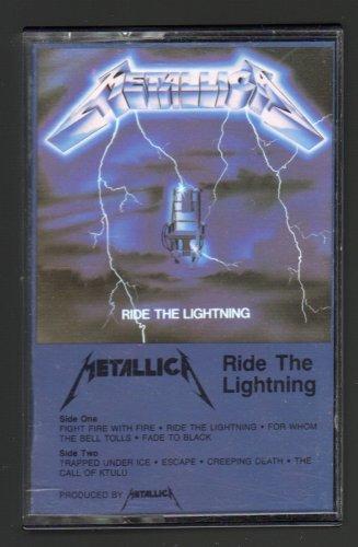 Metallica - Ride The Lightning 1984 ELEKTRA C8 CASSETTE TAPE