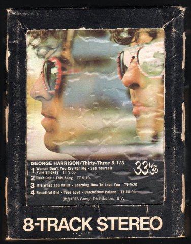 George Harrison - Thirty Three & 1/3 1976 WB A32 8-TRACK TAPE