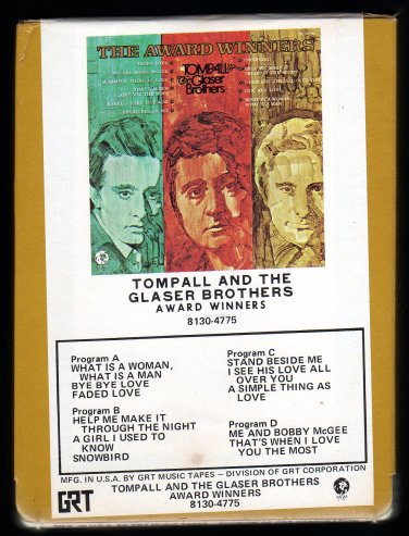 Tompall And The Glaser Brothers - Award Winners 1971 GRT MGM A23 8-TRACK TAPE