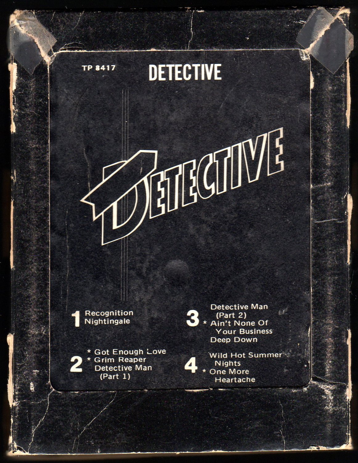 Detective - Detective 1977 Debut ATLANTIC A23 8-TRACK TAPE