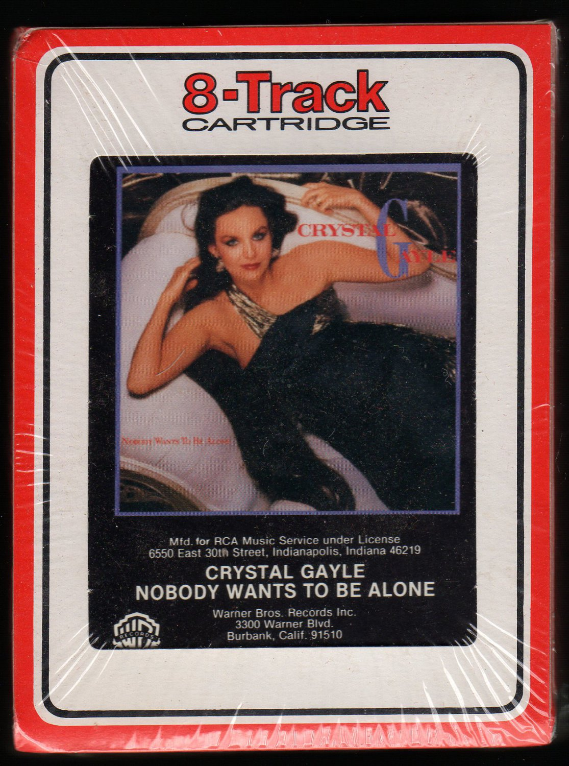 Crystal Gayle - Nobody Wants To Be Alone 1985 RCA WB  Sealed A23 8-TRACK TAPE