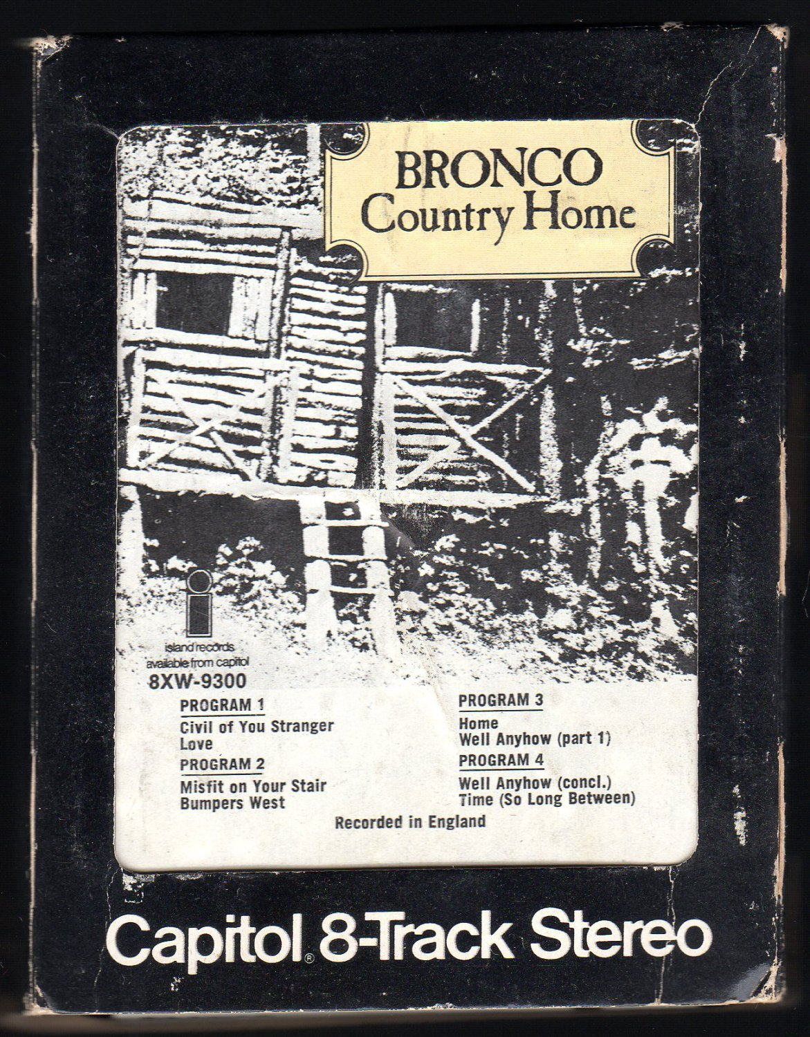 Bronco - Country Home 1970 Debut CAPITOL A2 8-TRACK TAPE