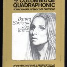 Barbra Streisand - Live Concert At The Forum 1972 CBS Quadraphonic A18E 8-TRACK TAPE