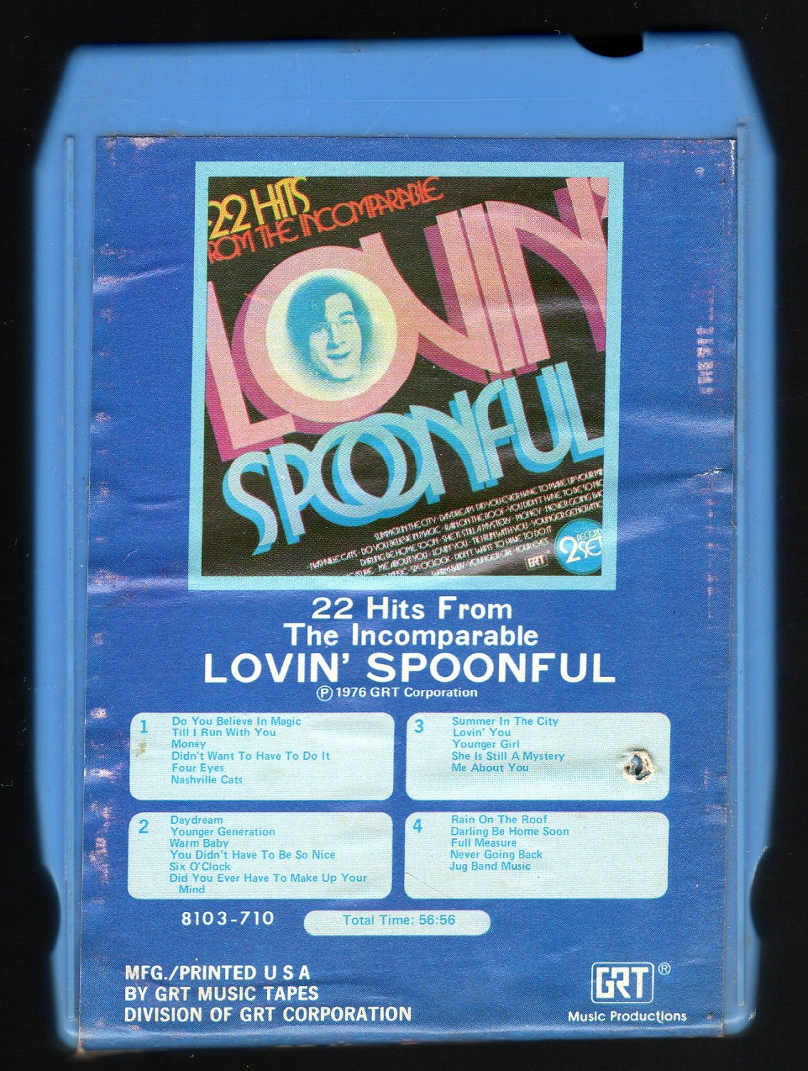 The Lovin' Spoonful - 22 Hits From The Incomparable Lovin' Spoonful A32 8-TRACK TAPE