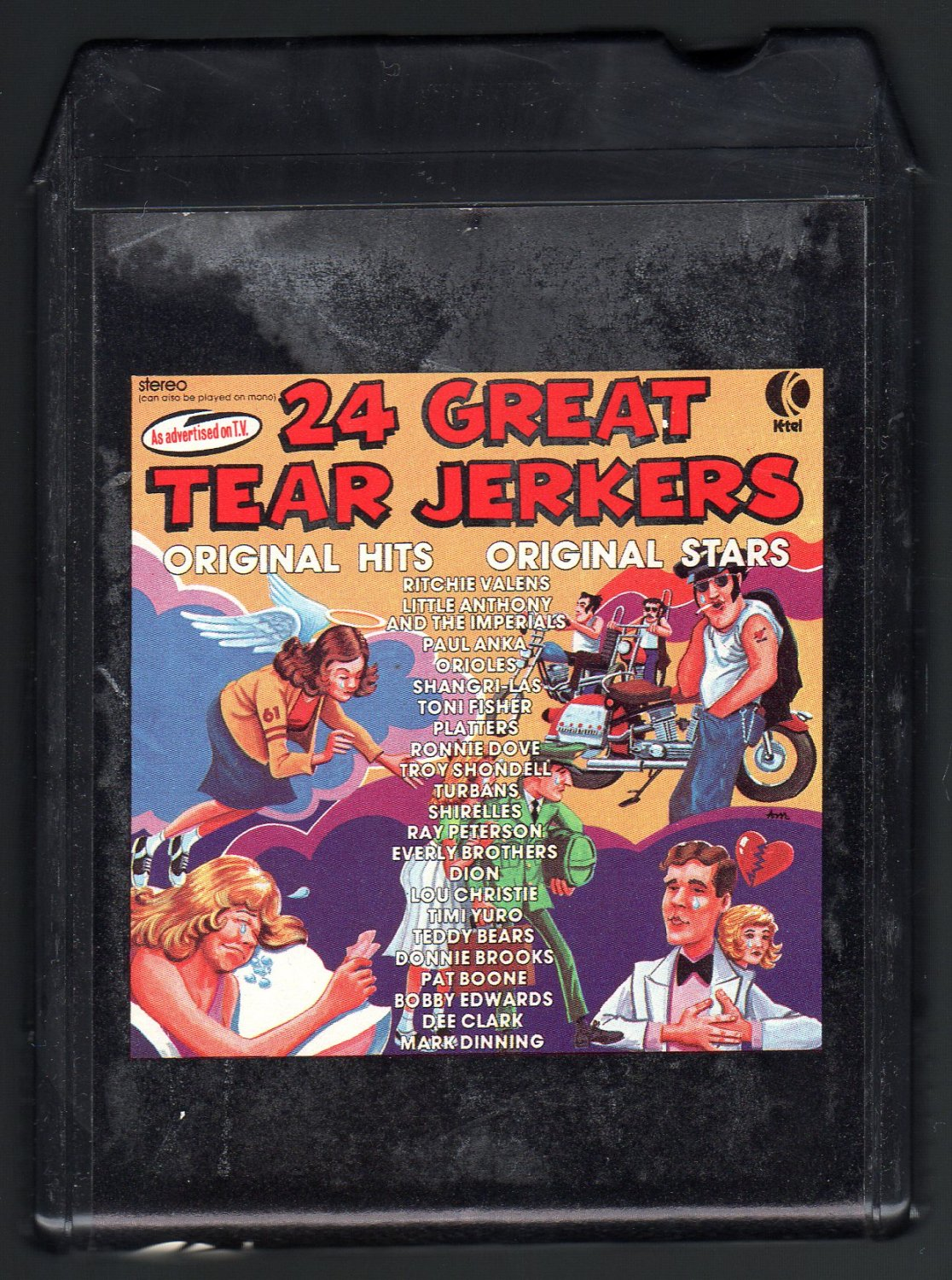 24 Great Tear Jerkers - 24 Original Hits 24 Original Stars 1975 KTEL A32 8-TRACK TAPE