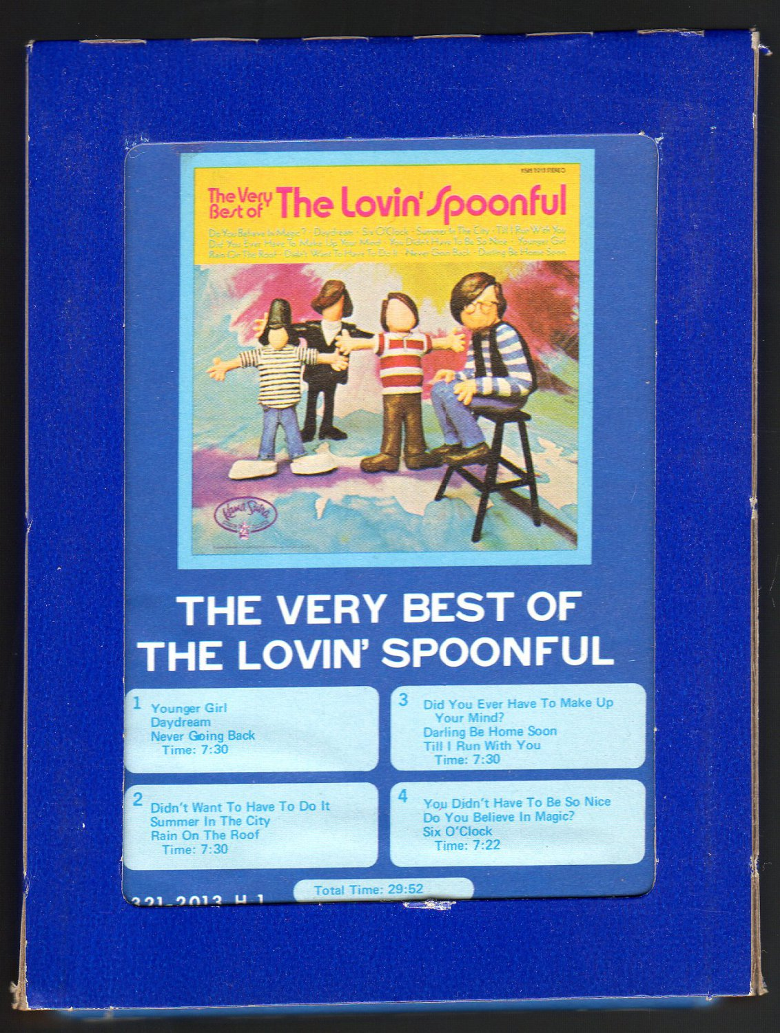 Lovin' Spoonful - The Very Best Of The Lovin' Spoonful 1970 GRT KAMASUTRA C/O A32 8-TRACK TAPE