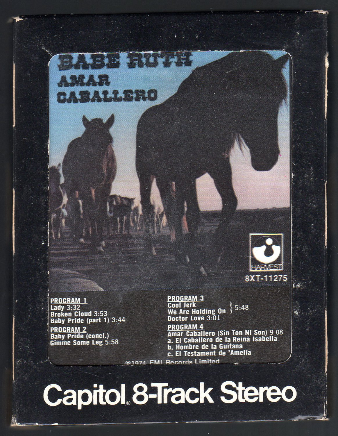 Babe Ruth - Amar Caballero 1973 CAPITOL A32 8-TRACK TAPE