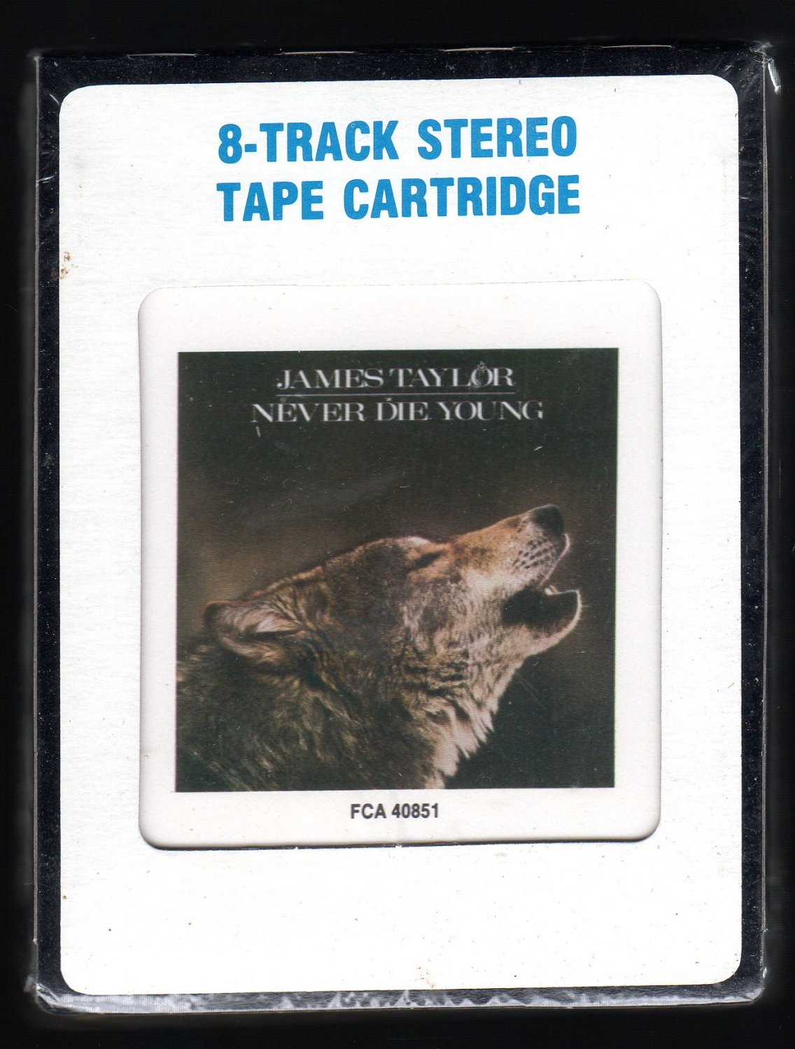 James Taylor - Never Die Young 1988 CRC CBS Sealed A32 8-TRACK TAPE