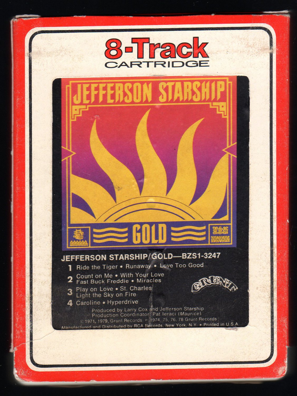 Jefferson Starship - Gold 1979 RCA GRUNT A32 8-TRACK TAPE