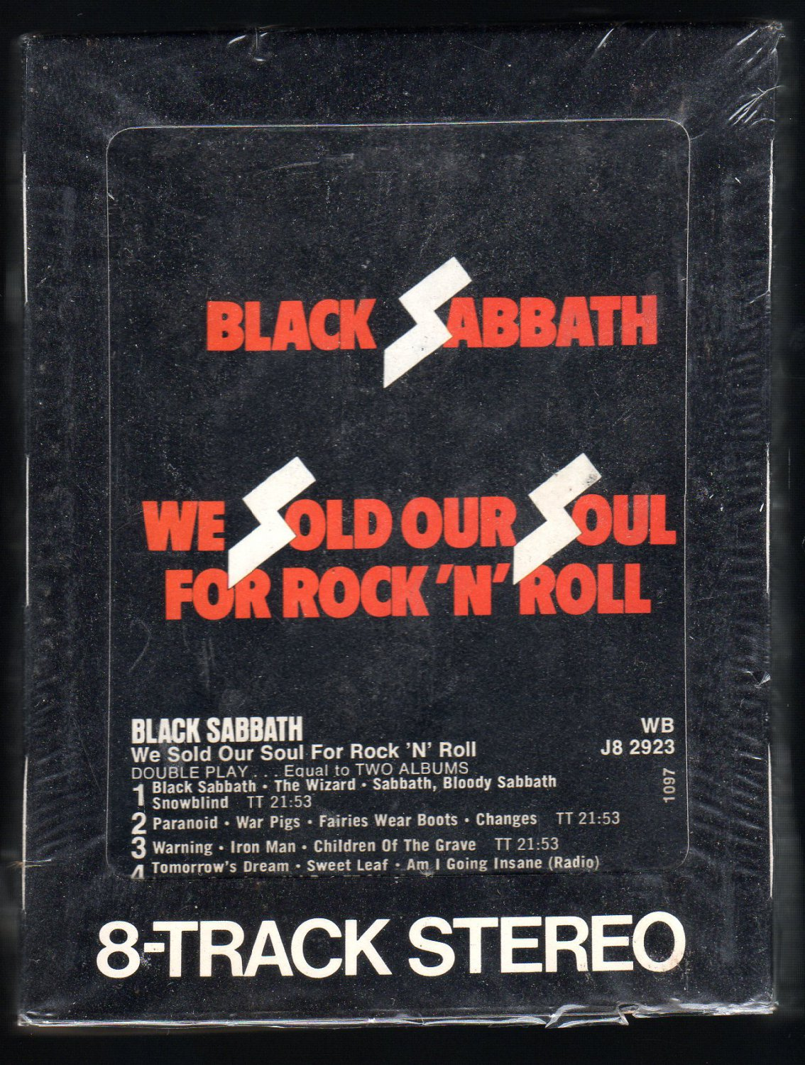 Black Sabbath - We Sold Our Soul For Rock N' Roll 1976 WB A32 8-TRACK TAPE