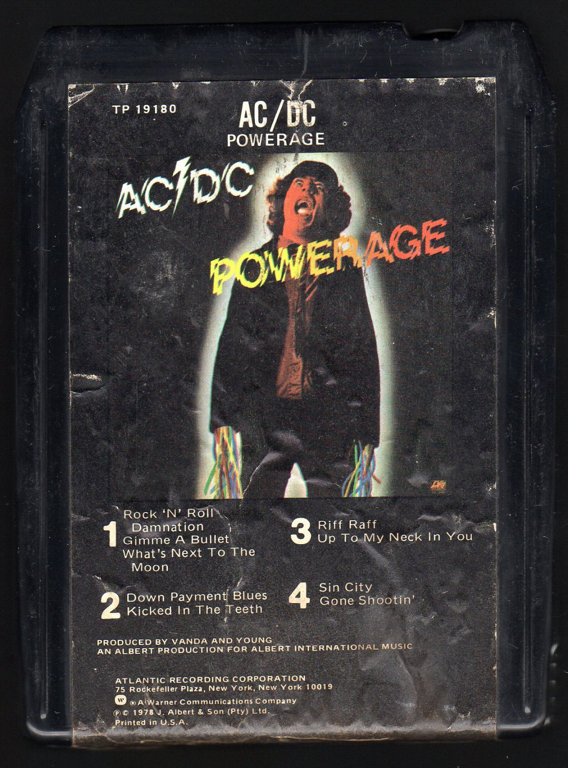 AC/DC - Powerage 1978 ATLANTIC A32 8-TRACK TAPE