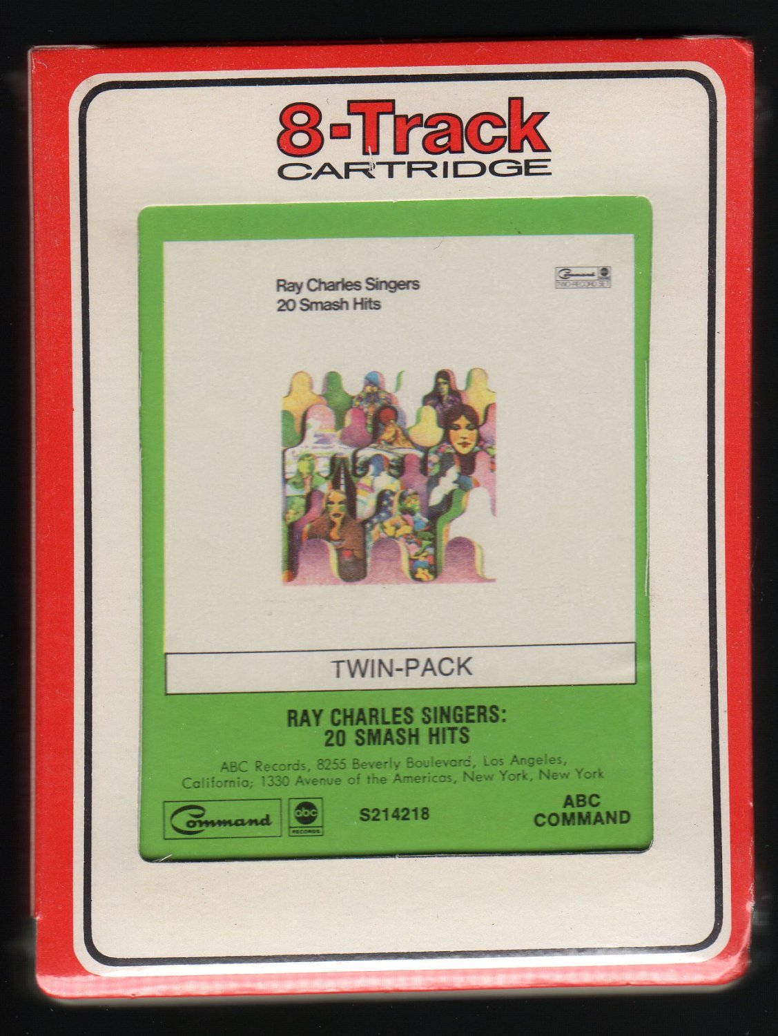 Ray Charles Singers - 20 Smash Hits 1973 RCA ABC Sealed A32 8-TRACK TAPE