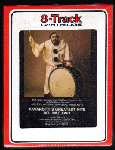 Luciano Pavarotti - Greatest Hits Vol 2 1985 RCA Sealed A13 8-TRACK TAPE