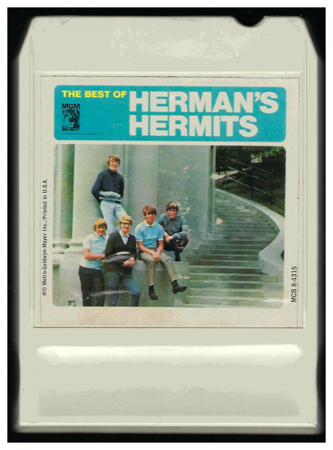 Herman's Hermits - The Best Of Herman's Hermits 1965 MGM LEAR AMPEX T3 8-TRACK TAPE