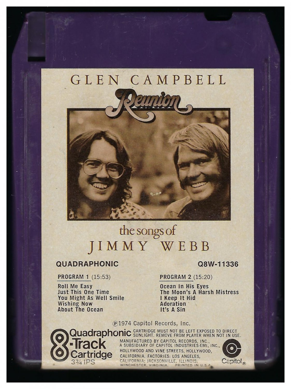 Glen Campbell - Reunion 1974 CAPITOL Quadraphonic T2 8-TRACK TAPE