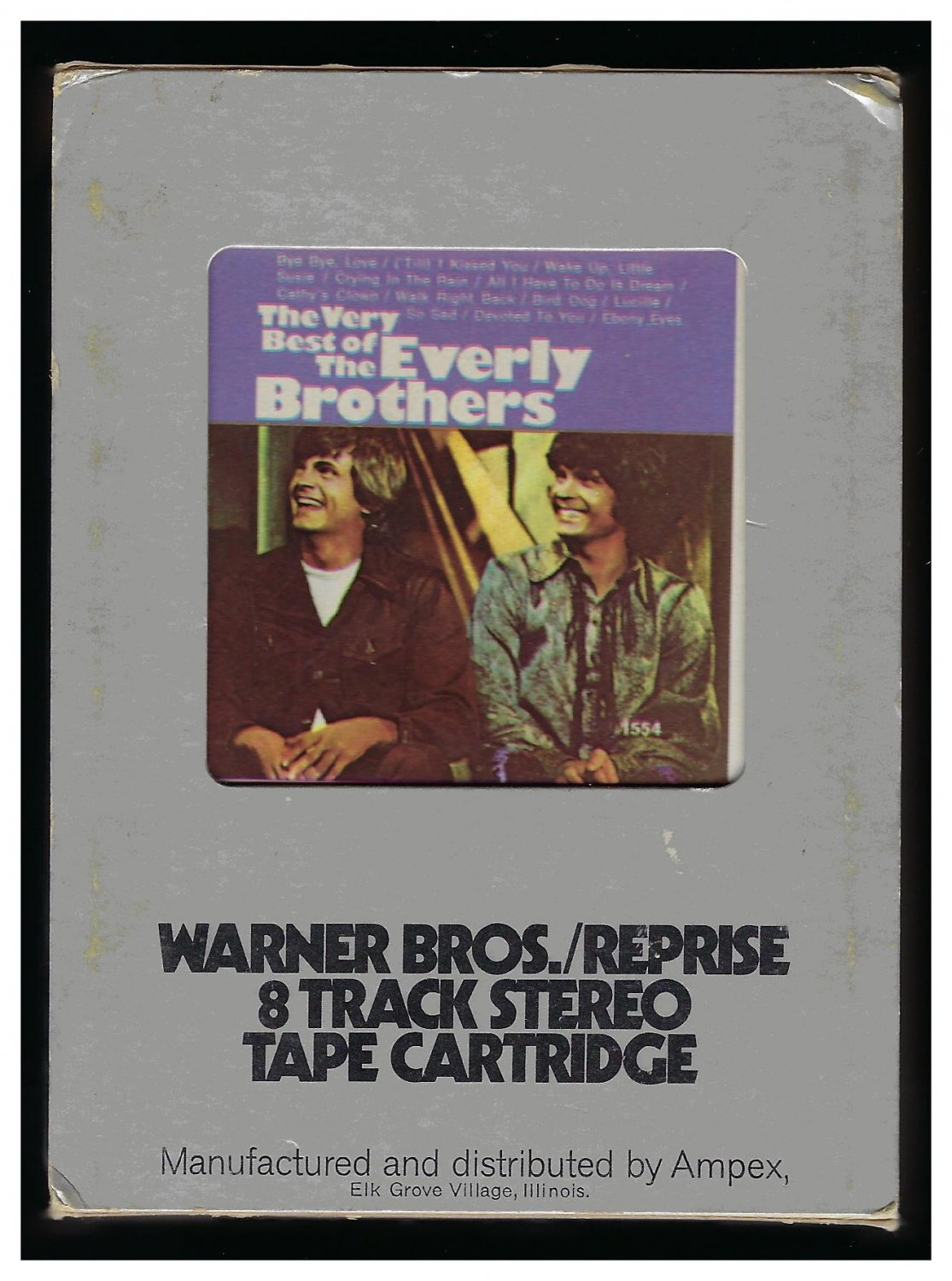 The Everly Brothers - The Very Best Of 1964 WB Re-issue A27 8-TRACK TAPE