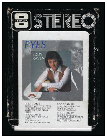 Eddy Raven - Eyes 1980 DIMENSION A19A 8-TRACK TAPE