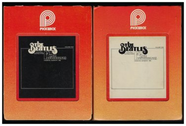 The Beatles - 1st Live Recordings Vol I & II 1979 PICKWICK A18F 8-TRACK TAPE